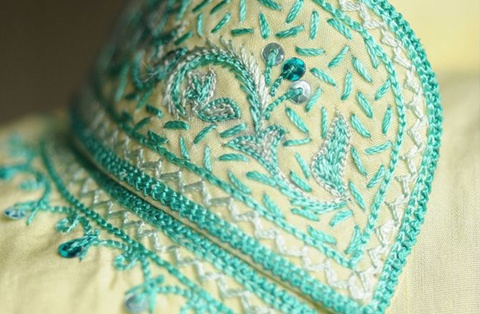 Hand Embroidery Designs in Bangalore - Swathi's Boutique